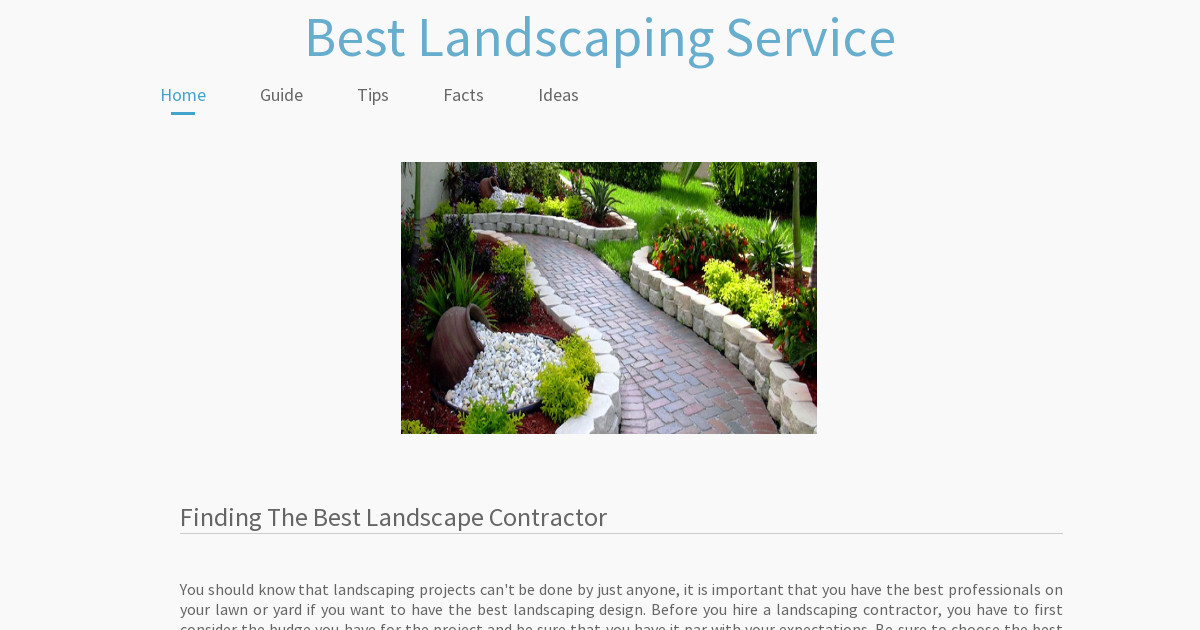 Best Landscaping Service Facts